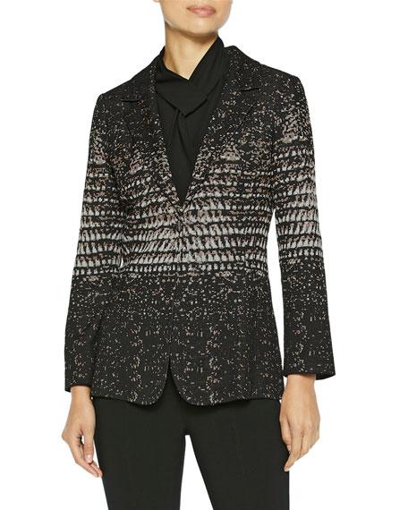 Misook Ombre Jacquard Knit One-Button Blazer