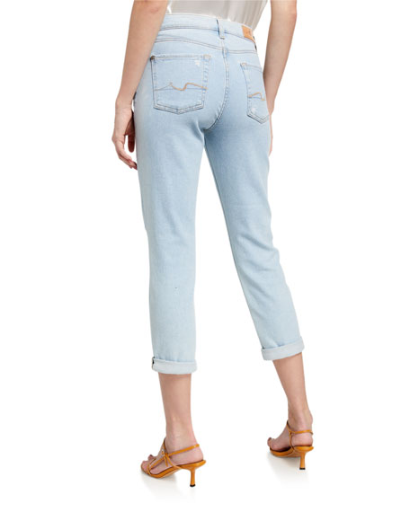 Image 2 of 3: 7 for all mankind Josefina Cropped Mid-Rise Jeans