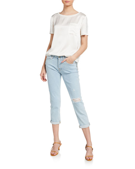 Image 3 of 3: 7 for all mankind Josefina Cropped Mid-Rise Jeans