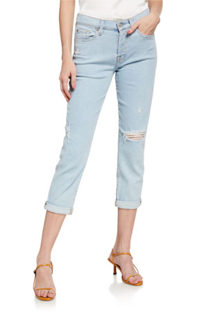 7 for all mankind Josefina Cropped Mid-Rise Jeans