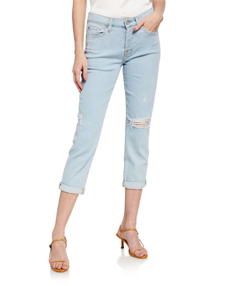 Image 1 of 3: 7 for all mankind Josefina Cropped Mid-Rise Jeans