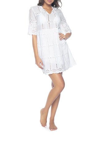 PQ Swim Clarissa Eyelet Coverup Dress