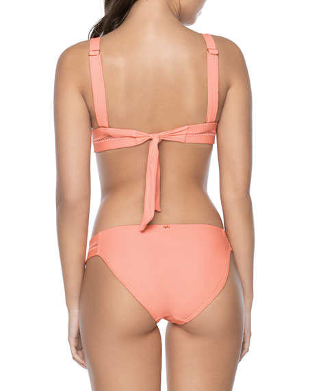 PilyQ Ellie Stitched Triangle Swim Top w/ Adjustable Straps (Available in D Cup)