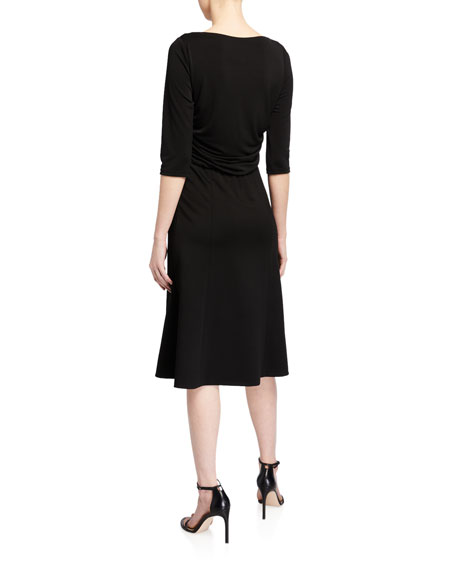 Elie Tahari Azalea 1/2-Sleeve A-Line Dress