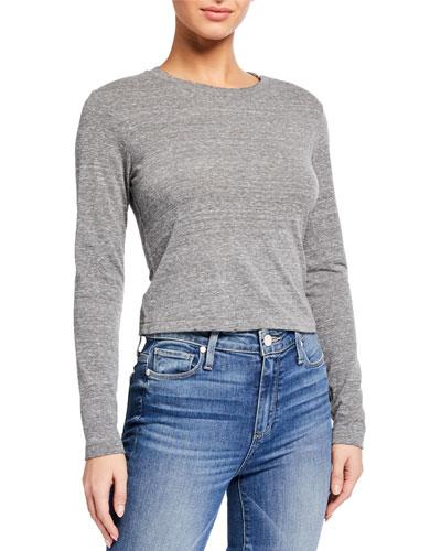 Babe Long-Sleeve Heathered T-Shirt
