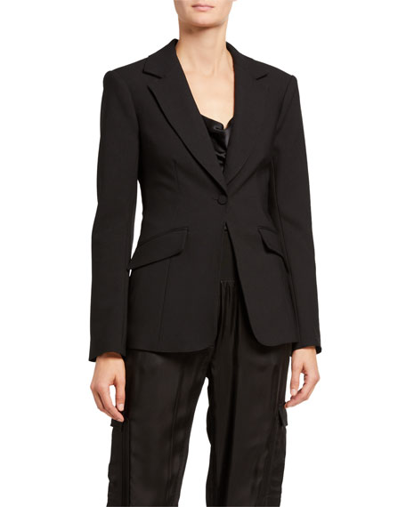Image 2 of 4: cinq a sept Kym Single-Button Blazer