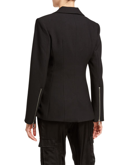 Image 3 of 4: cinq a sept Kym Single-Button Blazer