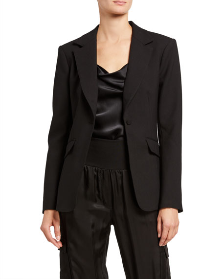 Image 1 of 4: cinq a sept Kym Single-Button Blazer