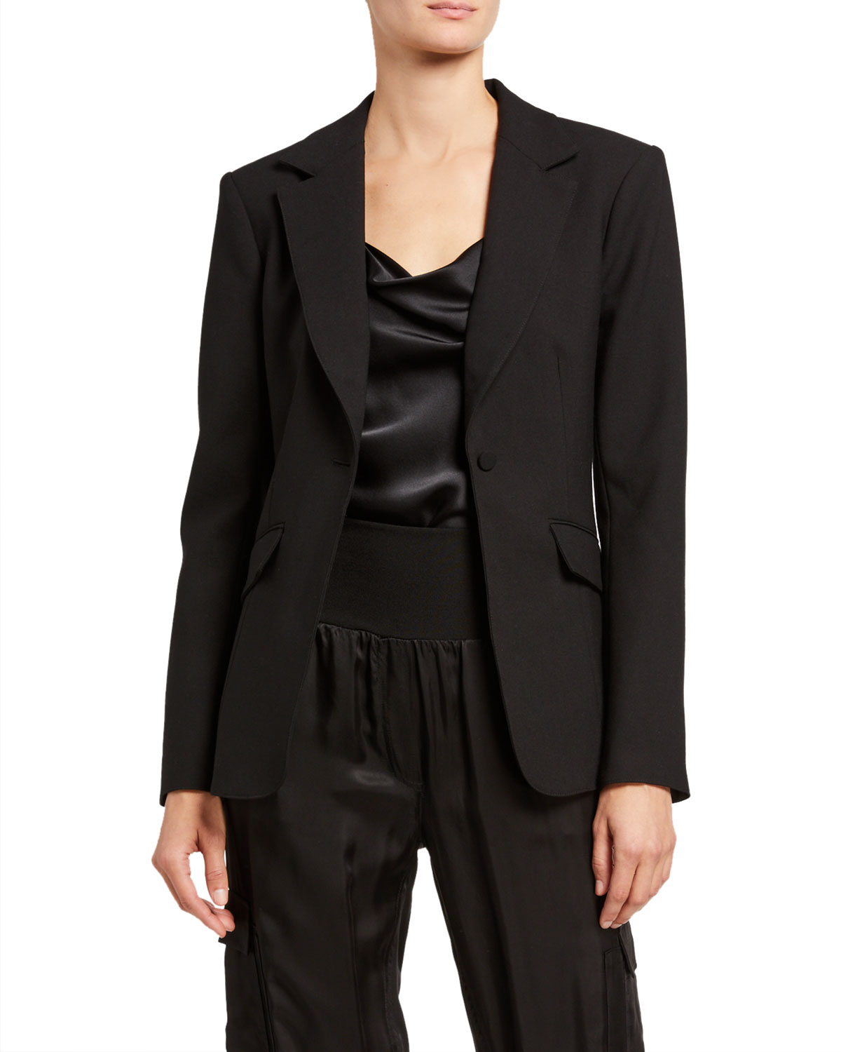 cinq a sept Kym Single-Button Blazer