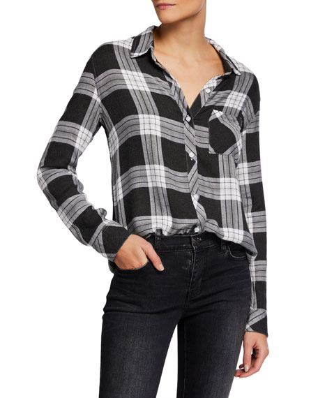 Image 1 of 5: Rails Hunter Plaid Long-Sleeve Button-Down Shirt