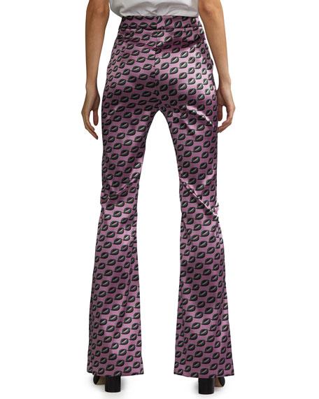 Cynthia Rowley Breslin Geometric Flared Pants