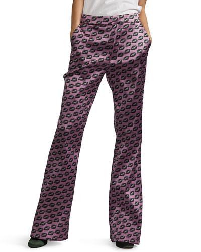 Breslin Geometric Flared Pants