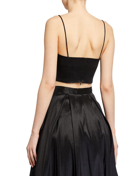 Likely Rosaline Cropped Sateen Cami Top
