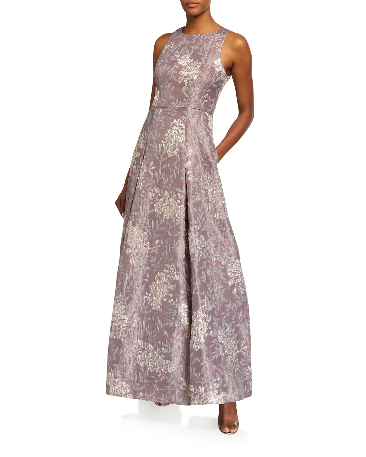 Aidan Mattox Sleeveless Brocade Ball Gown