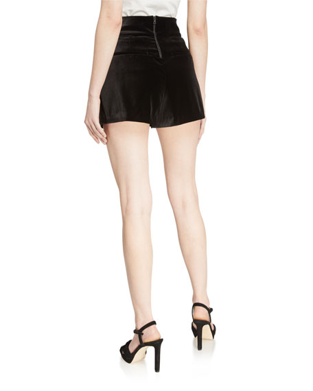 Image 2 of 3: Alice + Olivia Donald High-Waist Shorts