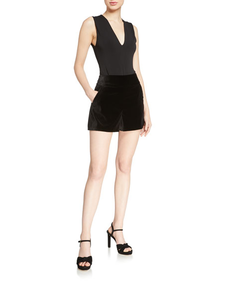 Image 3 of 3: Alice + Olivia Donald High-Waist Shorts