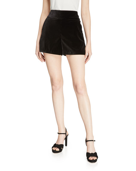 Image 1 of 3: Alice + Olivia Donald High-Waist Shorts