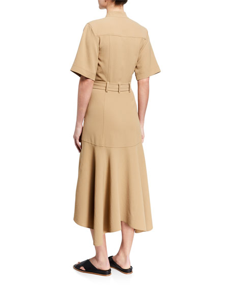 A.L.C. Emma Belted Midi Shirt Dress