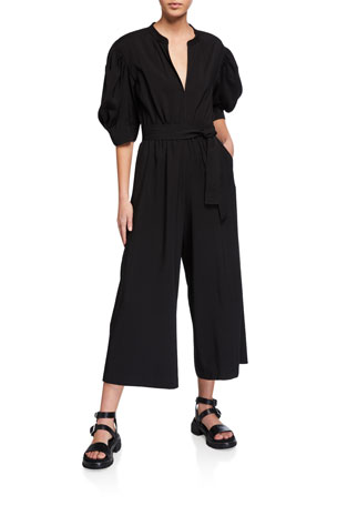 A.L.C. Shiva V-Neck Wide-Leg Jumpsuit