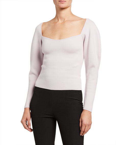 Image 1 of 2: A.L.C. Misah Square-Neck Top