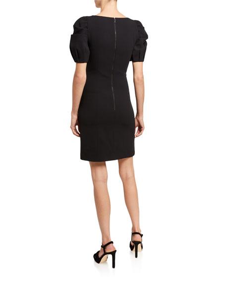 Alice + Olivia Rachel Puff-Sleeve Mini Dress