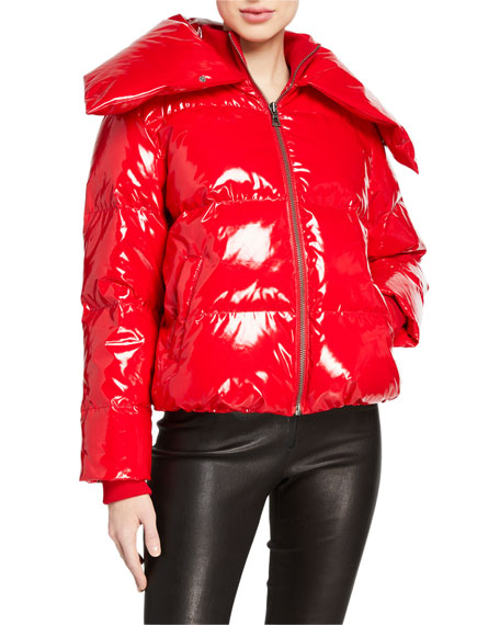 Alice + Olivia Durham High-Neck Puffer Jacket
