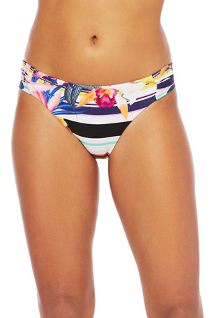 Trina Turk Treasure Cover Side Shirred Bikini Bottom