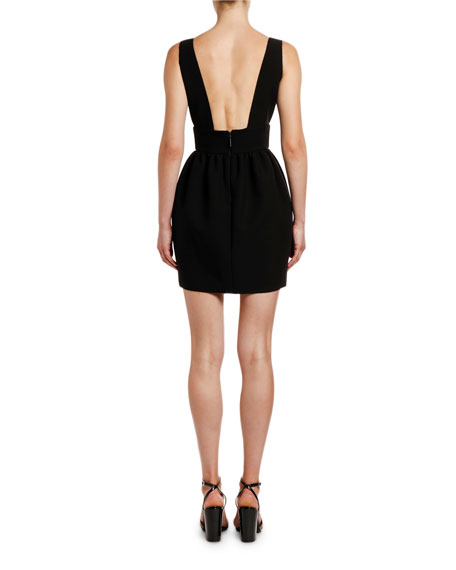 Image 3 of 3: MSGM Abito V-Neck Sleeveless Mini Pouf Dress