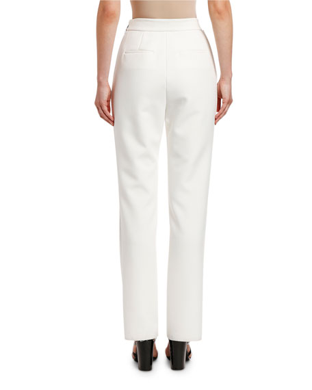 Image 2 of 2: MSGM Pantalone Slim Pants with Strauss Trim