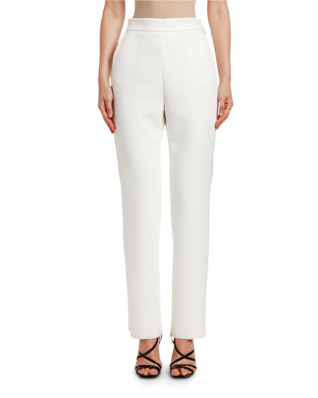 Image 1 of 2: MSGM Pantalone Slim Pants with Strauss Trim