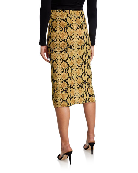Image 2 of 3: ba&sh Carry Printed Midi Skirt