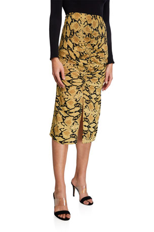 ba&sh Carry Printed Midi Skirt