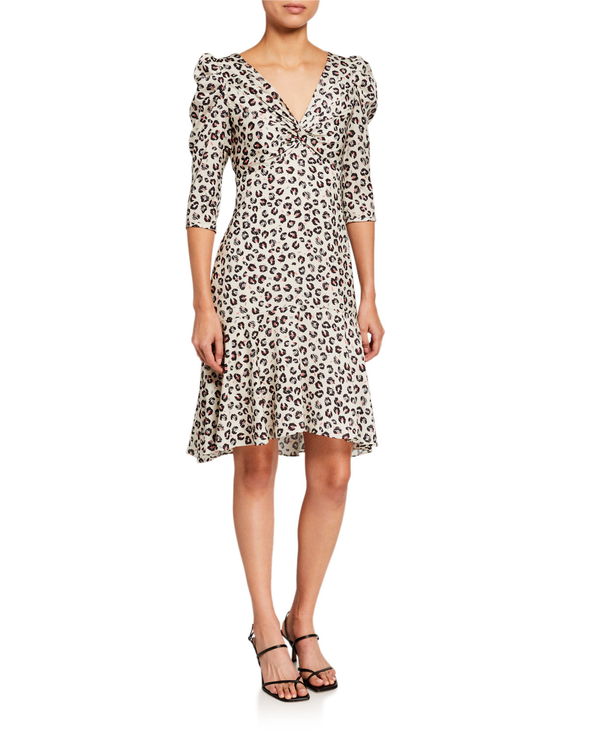 Bailey 44 Olivia 3/4-Sleeve Leopard-Print Dress