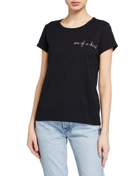 Image 1 of 2: One Of A Kind Embroidered Tee