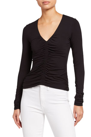Bailey 44 Kelby Ruched Long-Sleeve Top