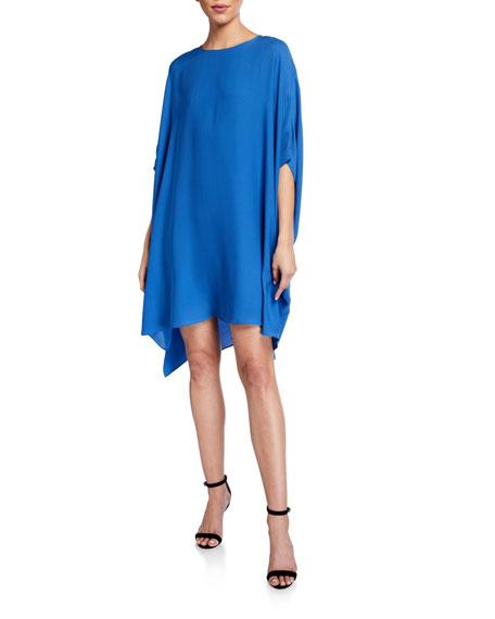 St. John Collection Draped Georgette Shift Dress