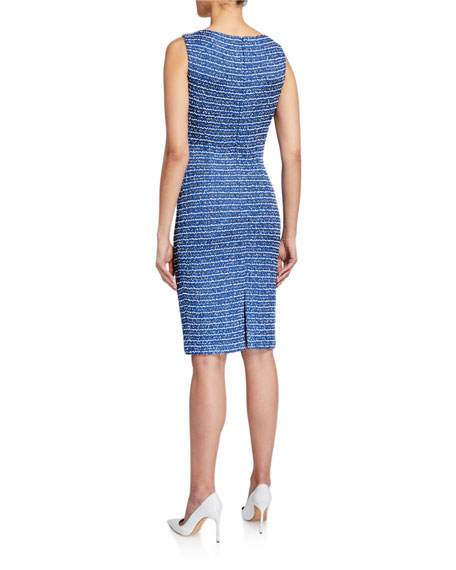 St. John Collection Butterfly Ribbon Tweed Knit Dress