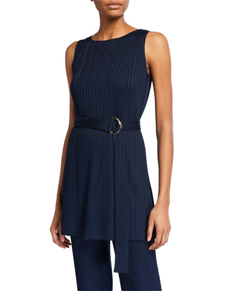 St. John Collection Variegated Ribbed Tunic Shell