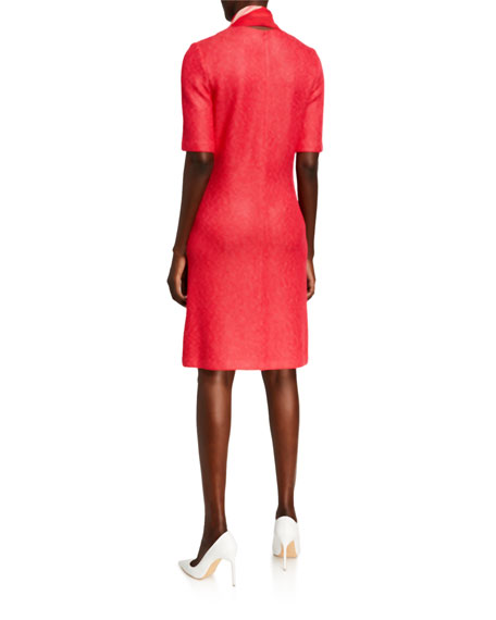 St. John Collection 1/2-Sleeve Refined Knit Dress