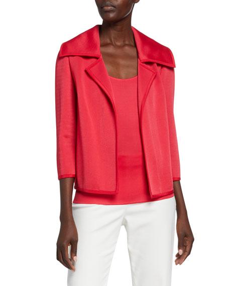 St. John Collection Liquid Milano Knit 3/4-Sleeve Jacket