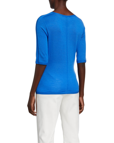 St. John Collection 1/2-Sleeve Jersey Top