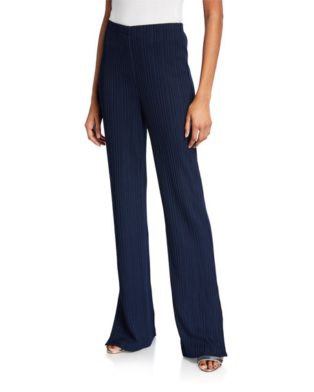 St. John Collection Variegated Ribbed Pants