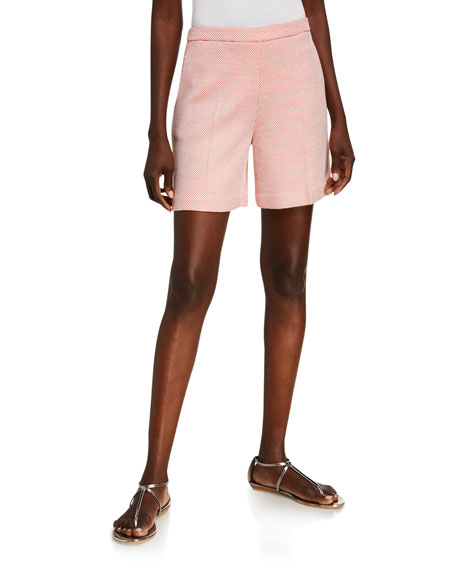 St. John Collection Optic Float Knit Shorts