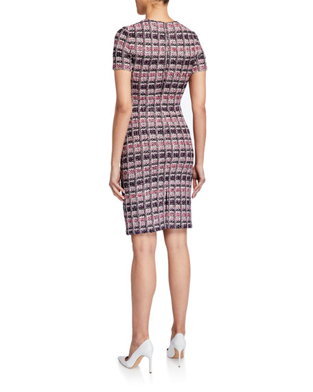 St. John Collection Monarch Tweed Sheath Dress