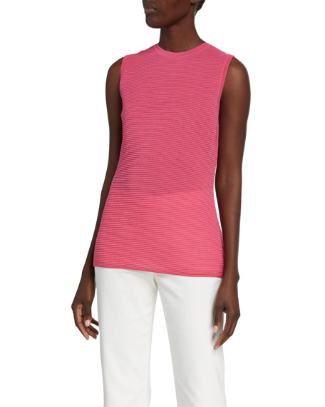 St. John Collection Refined Textured Knit Shell