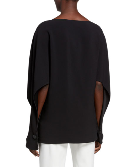 St. John Collection Satin-Back Crepe Blouse