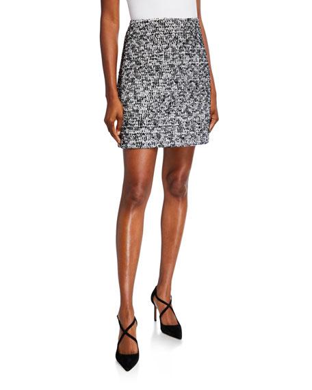 St. John Collection Modern Statement Tweed Skirt