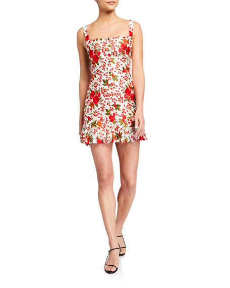 Image 2 of 3: Alexis Melora Rose-Print Pleated Mini Dress