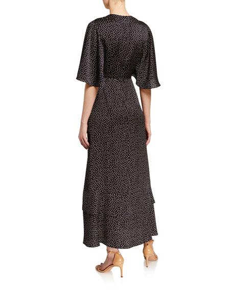 Alexis Kasany Dot-Print Tie-Front Dress