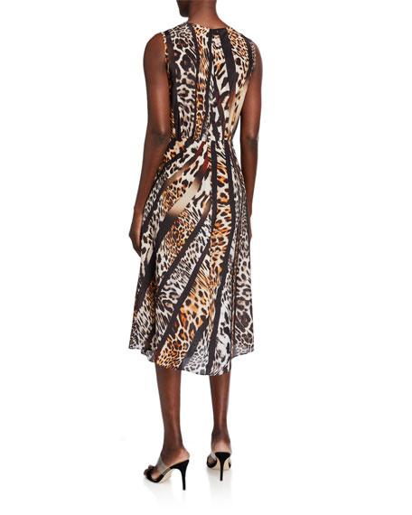 Kobi Halperin Beverly Animal-Print Sleeveless Midi Dress